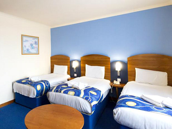 Triple rooms at London Wembley International Hotel are the ideal choice for groups of friends or families