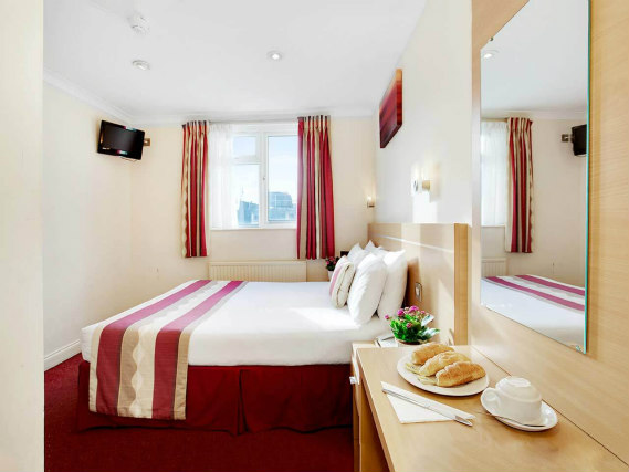 A double room at Queens Park Hotel is perfect for a couple