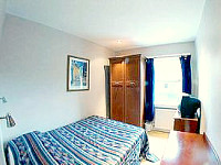 A typically bright and modern Double room at the Premier West
