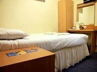 A typical single room at Euro Hotel Wembley