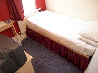 A typical single room at Euro Lodge Clapham