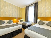 Quad rooms at the Lidos Hotel are great value for money allowing you to spend more exploring London