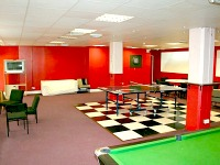 The games room is a great place to socialise and relax