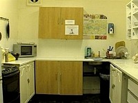 The Kitchen area at London Eye Hostel