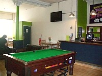 You can even play pool while staying at London Eye Hostel