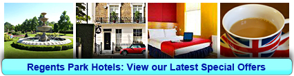 Regents Park Hotels: Book from only £21.50 per person!