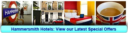 Hammersmith Hotels: Book from only £18.00 per person!