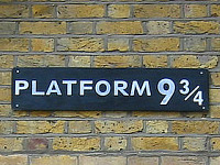 Harry Potters Platform 9¾ at Kings Cross