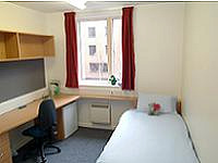 A Typical Single Room at Queen Mary University Accommodation