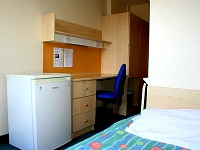 All rooms have a fridge, desk and a small ensuite bathroom
