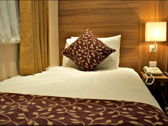 A typical single room at City Continental London Kensington