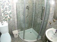 A typical shower system at Kensington Suite Hotel