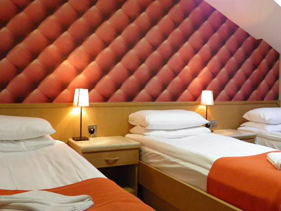Quad rooms at California Hotel London are the ideal choice for groups of friends or families