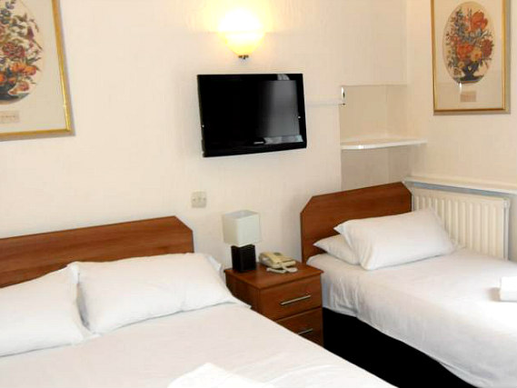 Triple rooms at Royal Norfolk Hotel are the ideal choice for groups of friends or families