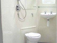The bathroom facilities at Chester Hotel Victoria are clean and modern