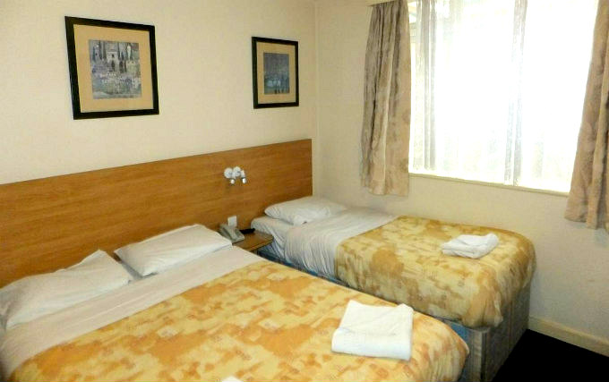 A triple room at Colliers Hotel