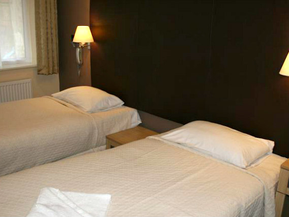 A twin room at Gatwick Belmont is perfect for two guests