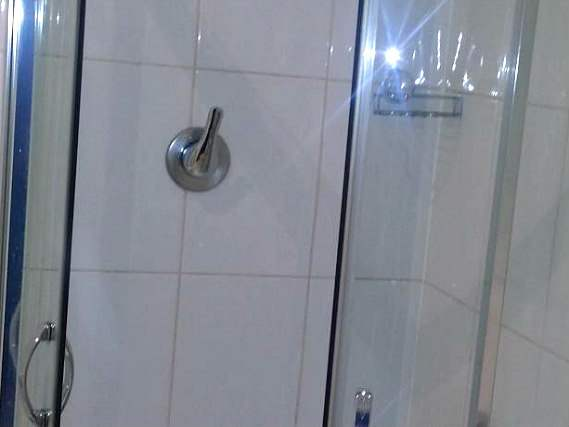 A typical shower system at Arriva Hotel