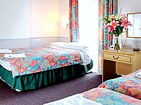 A typical guestroom at Marble Arch Inn