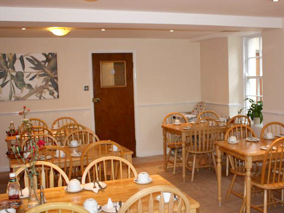 Relax and enjoy your meal in the Dining room