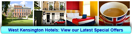 West Kensington Hotels: Book from only £11.30 per person!