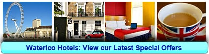 Waterloo Hotels: Book from only £13.06 per person!