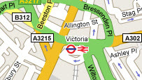 Map of Victoria, London
