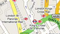 Map of Kings Cross, London