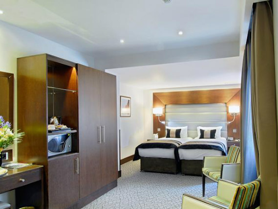 A twin room at Shaftesbury Kensington Hotel is perfect for two guests