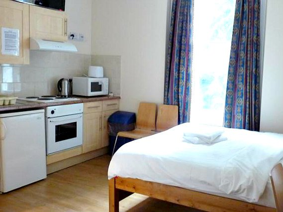 A double room at Earls Court Studios is perfect for a couple