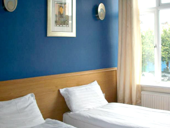 A twin room at City View Hotel Stratford is perfect for two guests