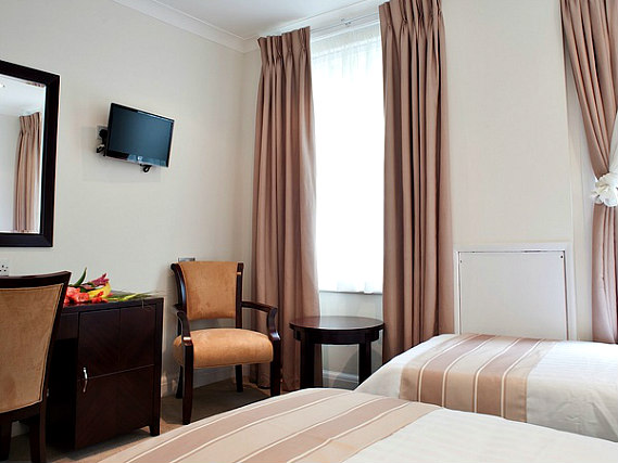 A twin room at Abcone Hotel London is perfect for two guests