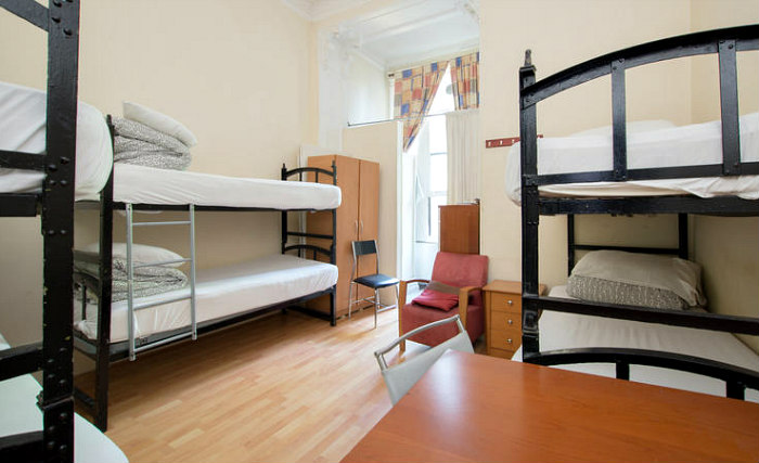 A bright and spacious twin room at Central Hostel
