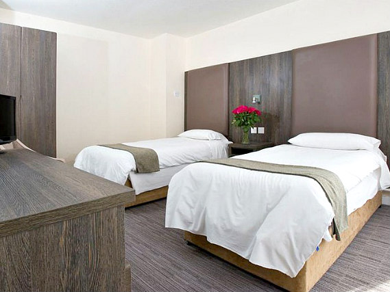 A twin room at Hotel Lily is perfect for two guests