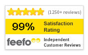 1250+ Feefo Reviews