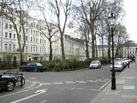 The hotel is situated in a quiet square close to London Paddington