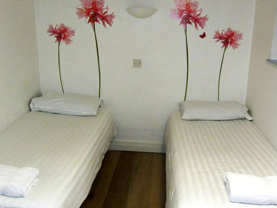 A twin room at Montana Hotel London is perfect for a two guests
