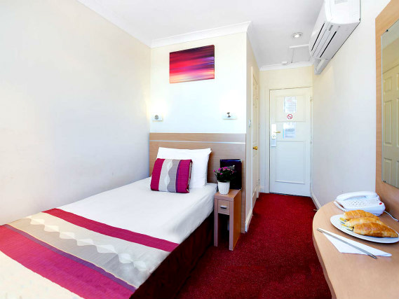 Single rooms at Queens Park Hotel provide privacy