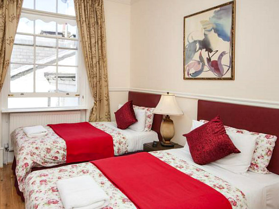 A twin room at Classic Hotel is perfect for two guests