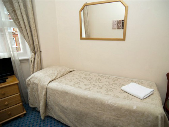 Single rooms at St Simeon Hotel provide privacy
