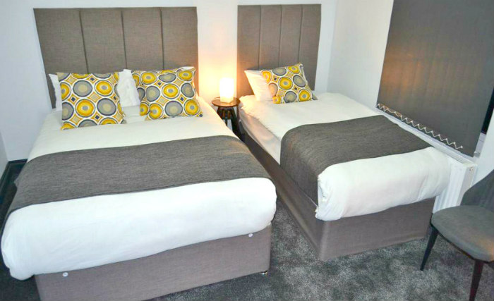 Triple rooms at Manor House London are the ideal choice for groups of friends or families