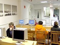 Stay in contact with family and friends at the internet cafe at Royal Bayswater Hostel