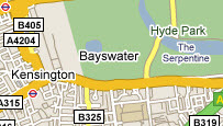 Map of Bayswater, London