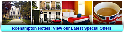 Roehampton Hotels: Book from only £12.25 per person!