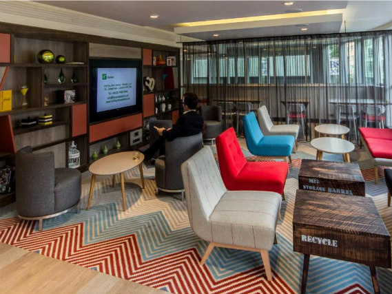 Relax in the lounge at Holiday Inn Camden Lock