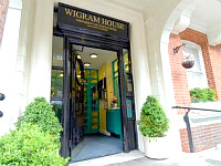 The entrance at Wigram House
