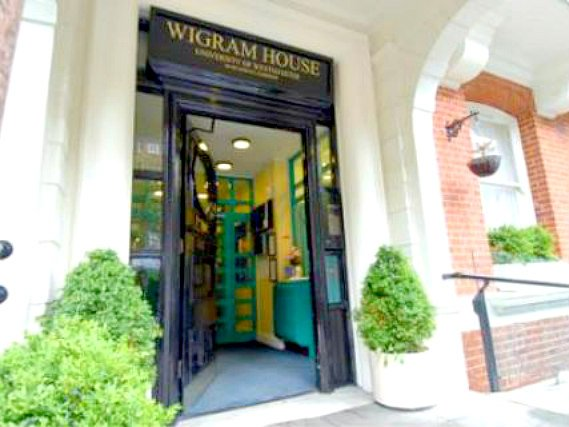 The Wigram House's welcoming entrance
