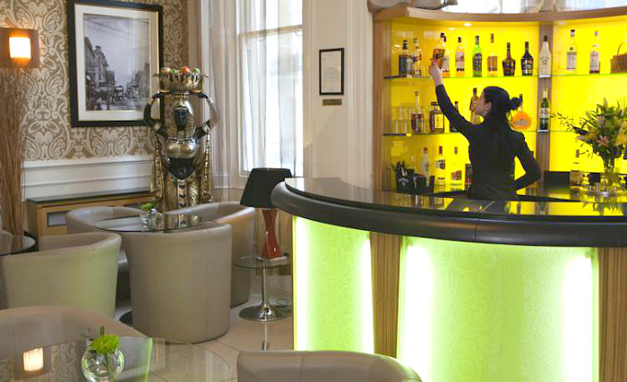 After a busy day, relax with a drink in the bar
