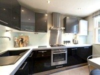 The modern Kitchen at Vancouver Studios London is fully equipped for all your needs