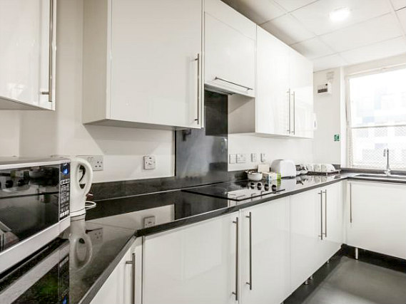 A clean and bright kitchen for you to prepare food